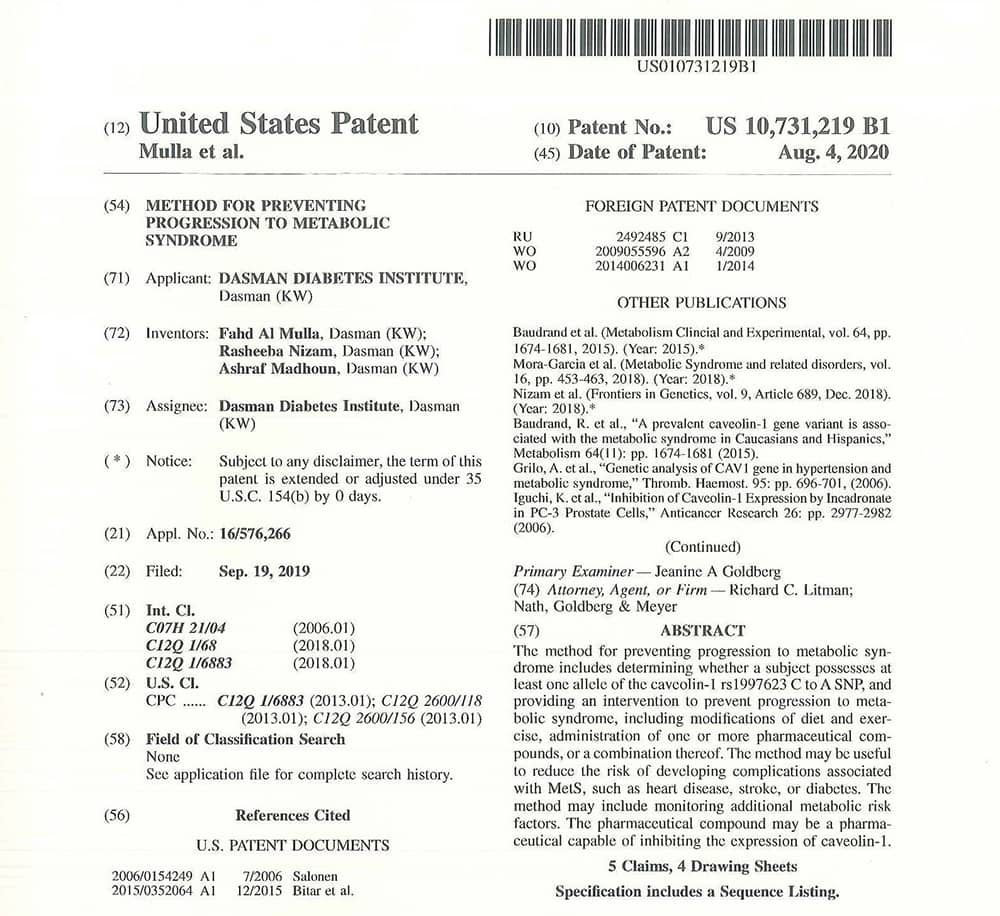 DDI Awarded 1st Patent